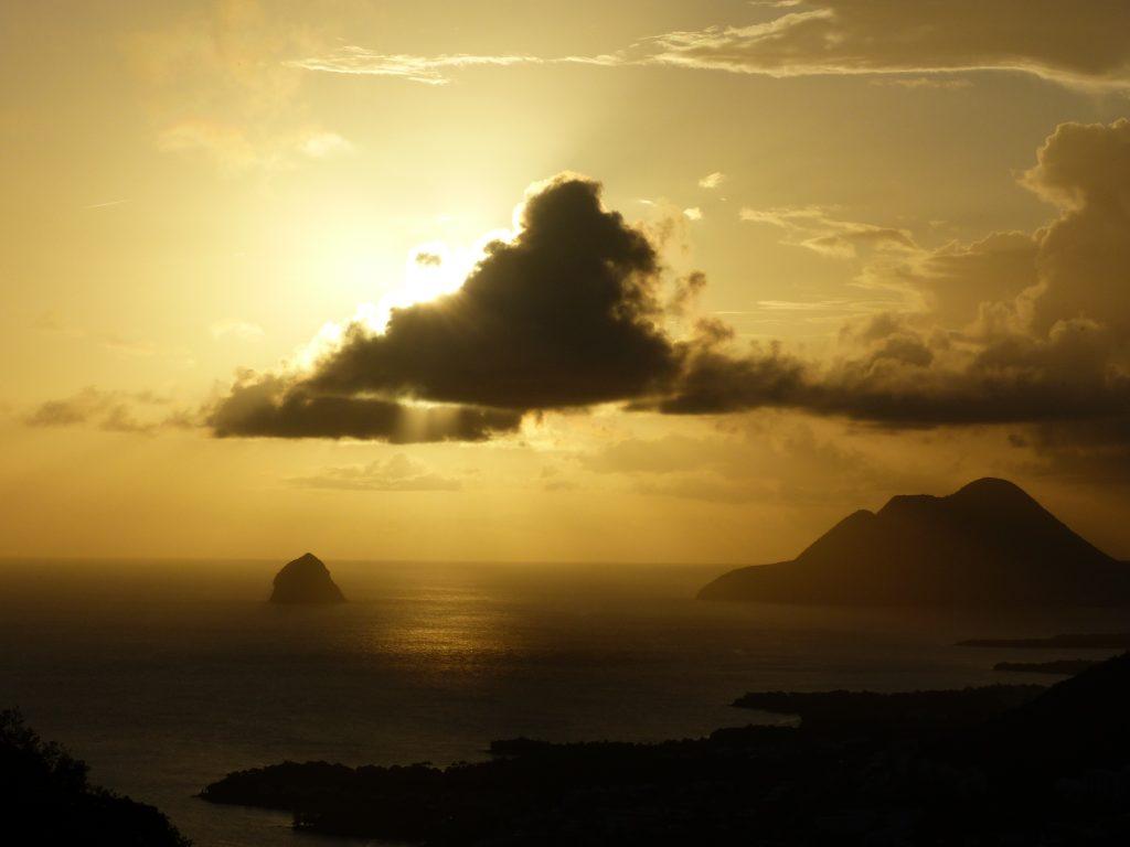 coucher de soleil morne gommier OML